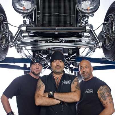 Danny the Count, Kevin and Horny Mike. The Counting Cars crew