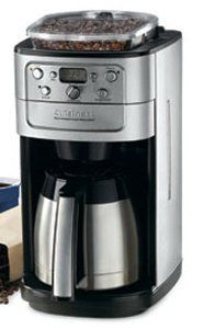 Cuisinart Burr Grind And Brew Thermal 12 Cup Automatic Coffeemaker Brushed
