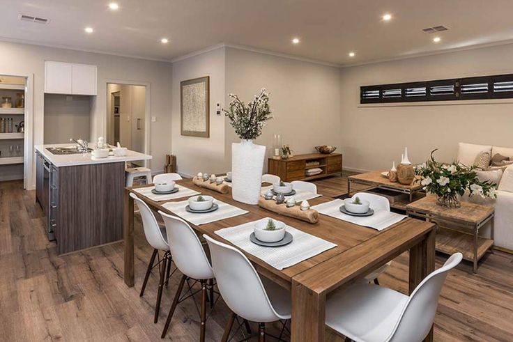 Interconnected spaces make entertaining a breeze.#weeksbuildinggroup #newhome #homedesign