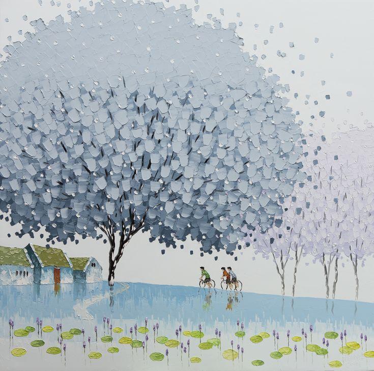 De Vietnamese Phan Thu Trang heeft een bijzondere en vrolijk stemmende manier va… – verzamel schilderijen
