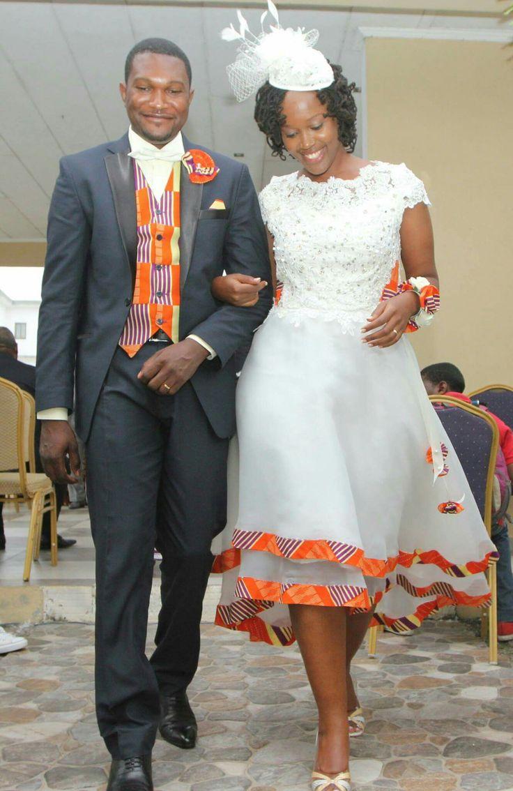 Myra et son époux...quelques touches de pagne: résultat magnifique!!