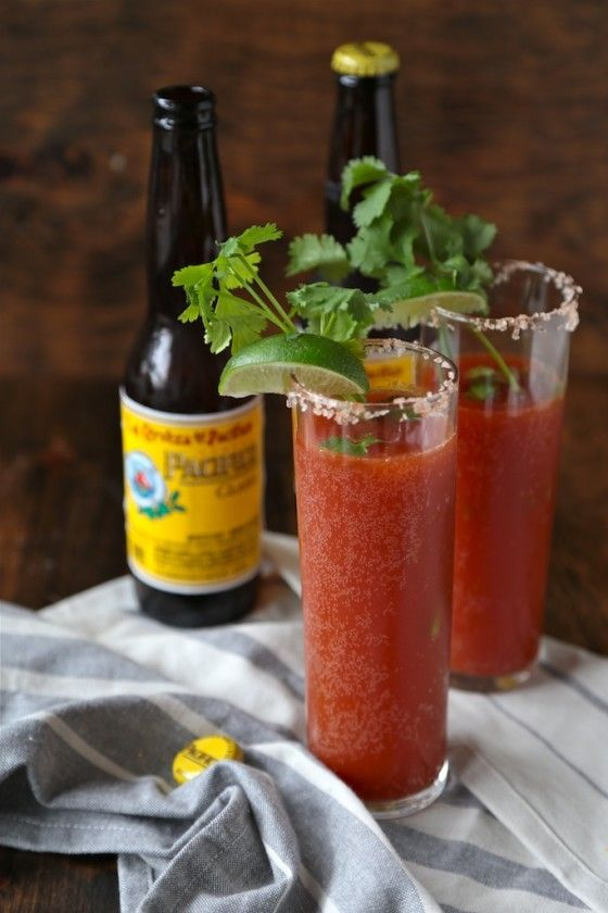 When you need a change from a traditional bloody mary, these Smoky and Spicy Mexican Red Beers will totally fit the bill!