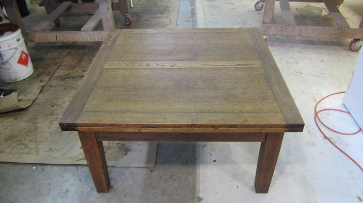 The Foreman's project: #oak #draw-leaf #coffee #table to be #refinished by AM Furniture Finishing