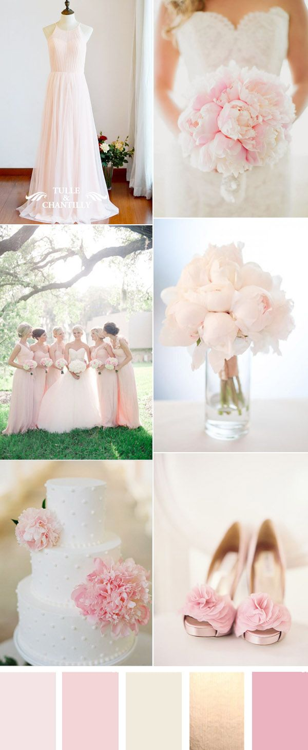 elegant pale pink wedding ideas