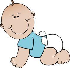 Bebé-niño-gateando-dibujo-