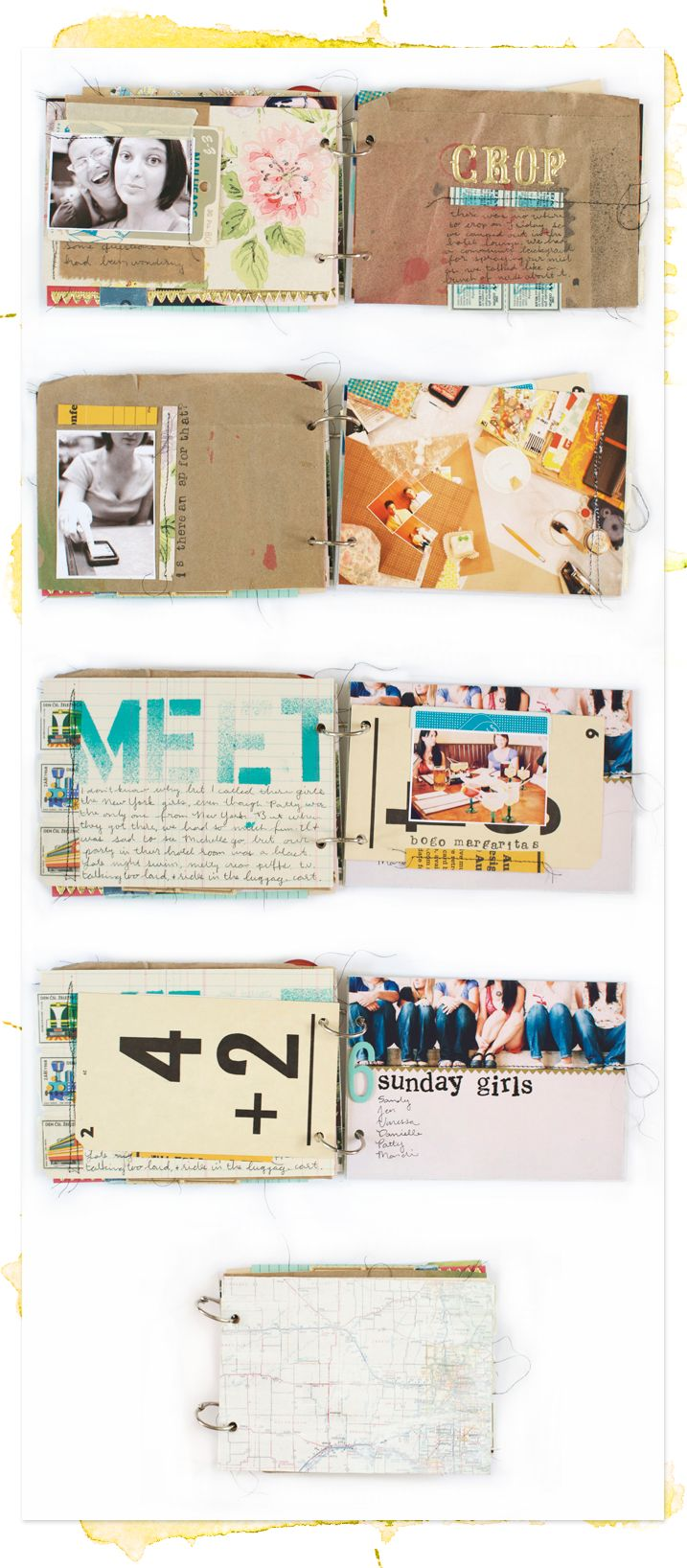 Road Trip Mini Book by Amanda Johnson at Here's Looking At Me Kid - Love the use of the brown lunch bag!