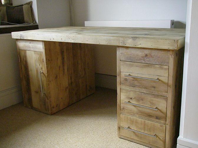 Hudson large Office Desk #eatsleeplive #Rustic #Reclaimedwood