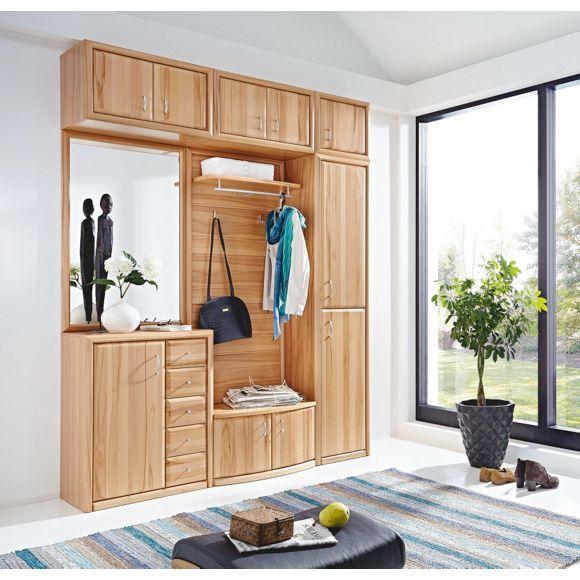 Moderne garderobe von venda bietet viel stauraum im for Garderobe echtholz eiche
