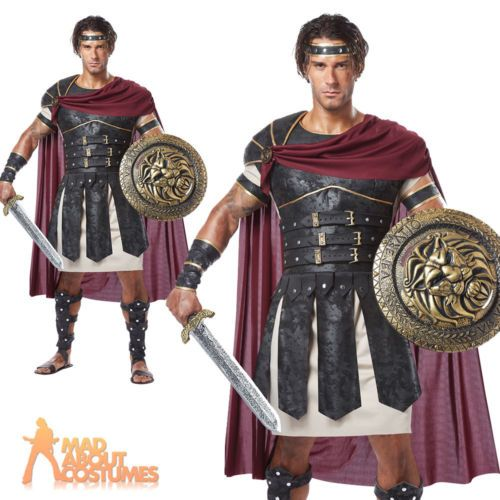 Adult-Roman-Gladiator-Costume-Mens-Spartan-Warrior-Centurion-Fancy-Dress-Outfit