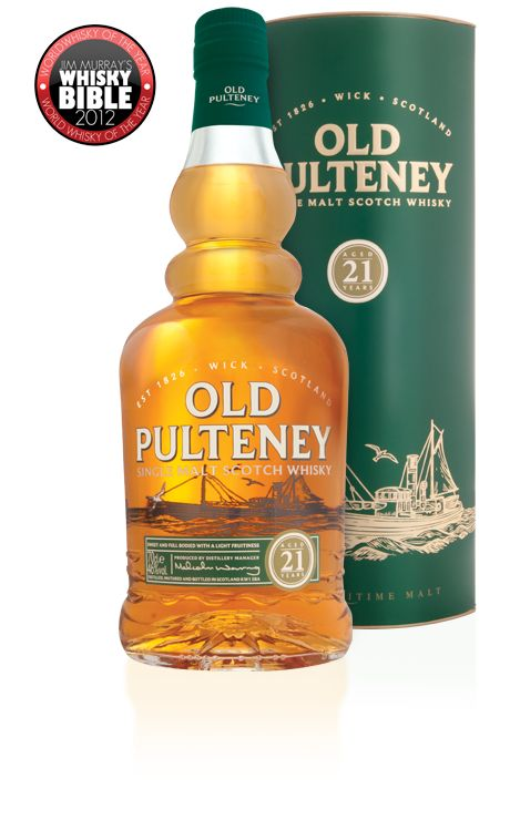 Old Pulteney 21 year old single malt whisky available from Whisky please.
