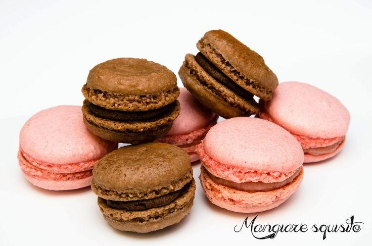 Makronky s čokoládovou ganache a s malinovým mascarpone ~ Mangiare squisito ~ Foodblog