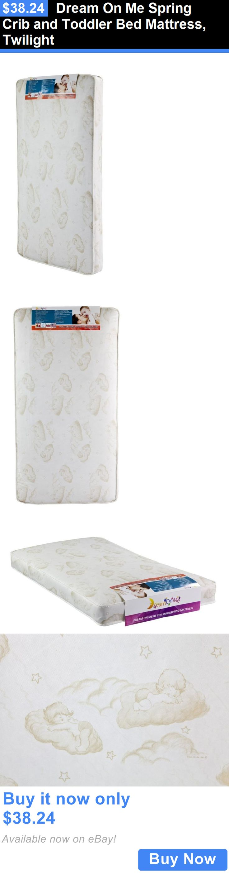 Baby Nursery: Dream On Me Spring Crib And Toddler Bed Mattress, Twilight BUY IT NOW ONLY: $38.24