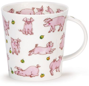 Dunoon - Fine Bone China Mugs - Cairngorm Shape : Animals Galore Pigs