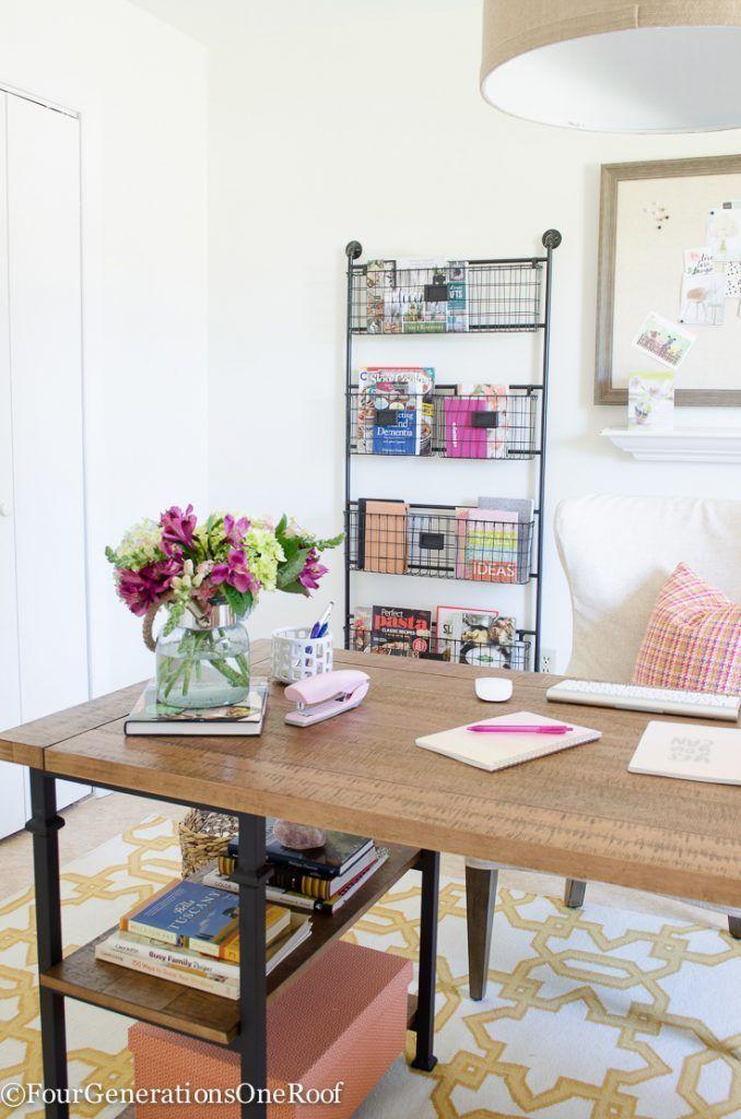 my colorful modern farmhouse office decorating ideas offices rh pinterest com