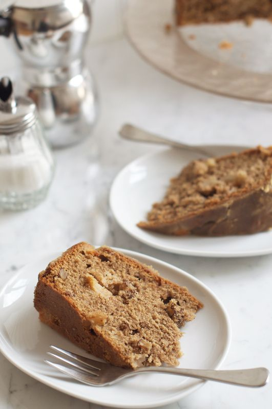 Apple and Walnut Cake. Recipe adapted from Rachel Allen. Step-by-step photos