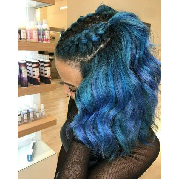 Blue Hair ❤ liked on Polyvore featuring hair