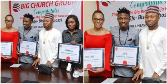 BBNaija: Efe TBoss and Bisola get plots of land in Abuja from Tonto Dikeh's husband (photos) http://ift.tt/2pOq9mS