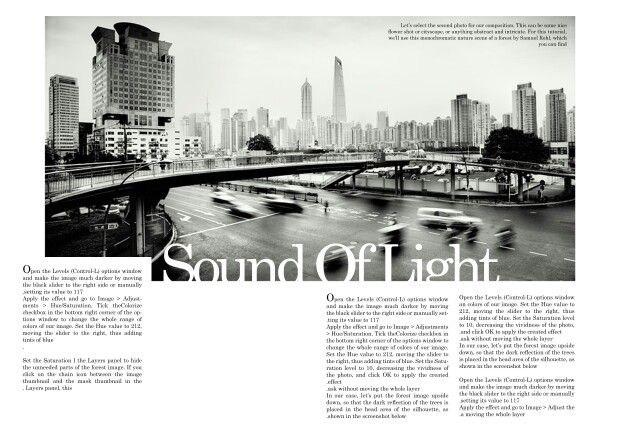 Some of my magazine layout templates _sound of light