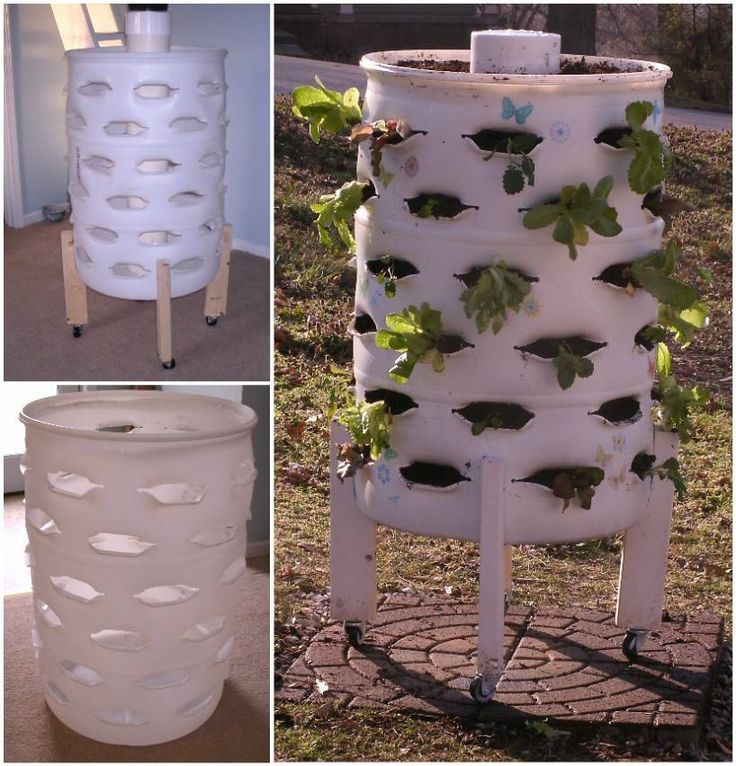 When recycling meets gardening here s how to make a for Cheap vertical garden