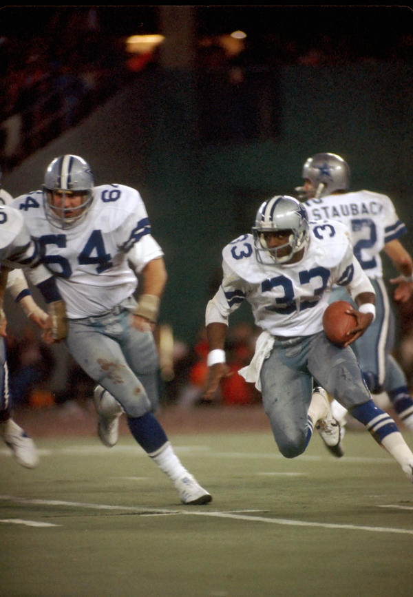 Tony Dorsett. A great player. He was tough both on and off the field. It was a different time back then.