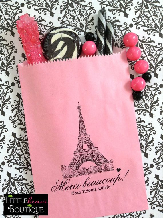 French Candy Bags Eiffel Tower Favor bags by LittlebeaneBoutique, $21.95