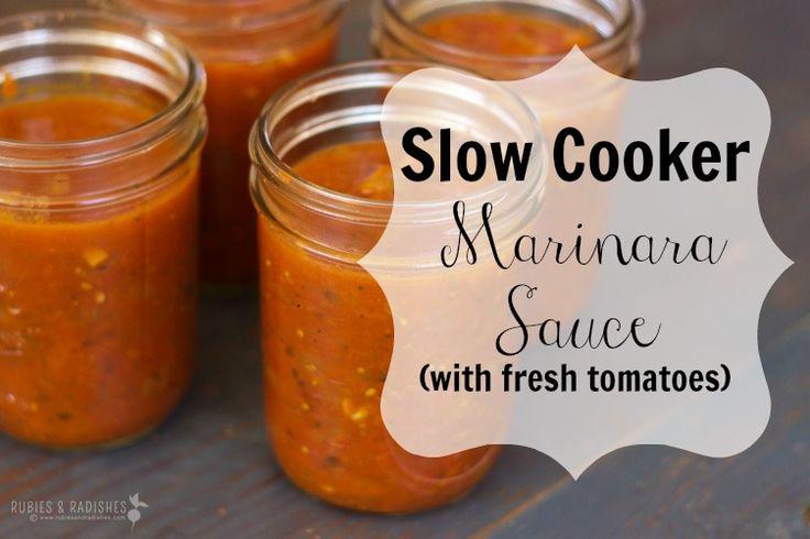 Slow Cooker Marinara Sauce  #RubiesandRadishes