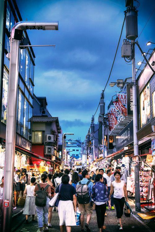 Dark skies over Harajuku's famous Takeshita...   Tokyo Fashion