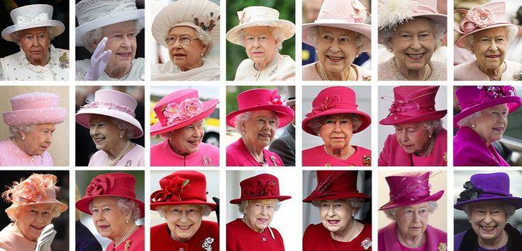 La reine Elizabeth II : 63 ans sept mois et deux jours au poste, et autant de chapeaux. (Emmanuelle Hirschauer/L'Obs)