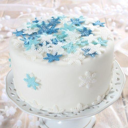 Maak een prachtige winter wonder taart met de stappen in dit recept! Maak de taart voor een verjaardag of gewoon voor bij de koffie.