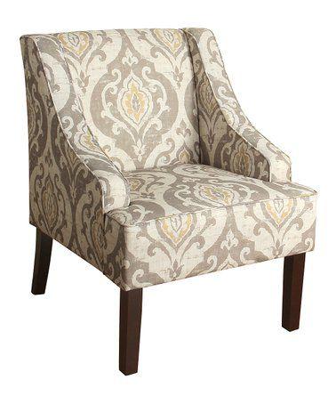 loving this beige suri swoop arm accent chair on zulily rh pinterest com