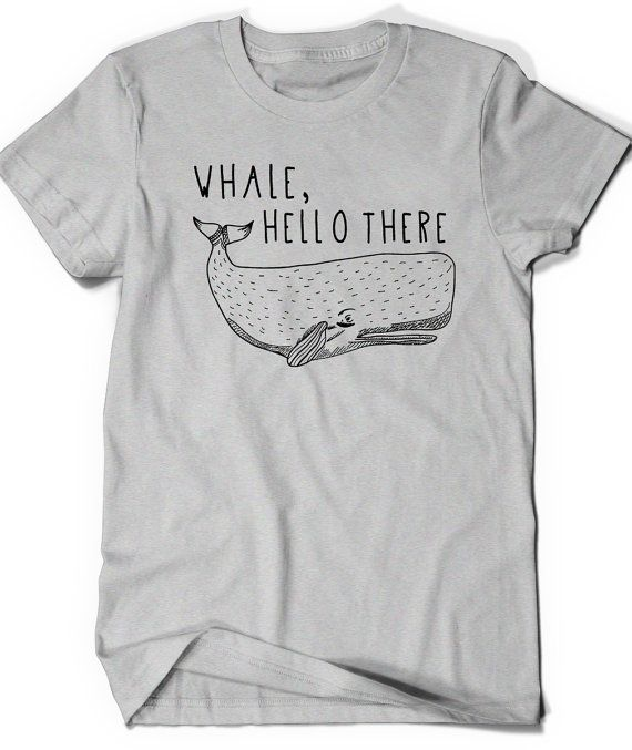 Funny Whale shirt T Shirt Tee Cute Men Women Ladies by BoooTees