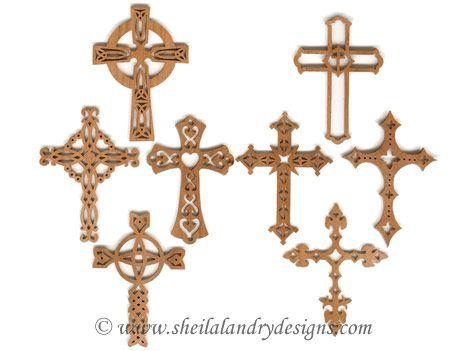 SLDK60 60 Celtic And Gothic Cross Ornament Set 60 Celtics Crosses Cool Scroll Saw Cross Patterns