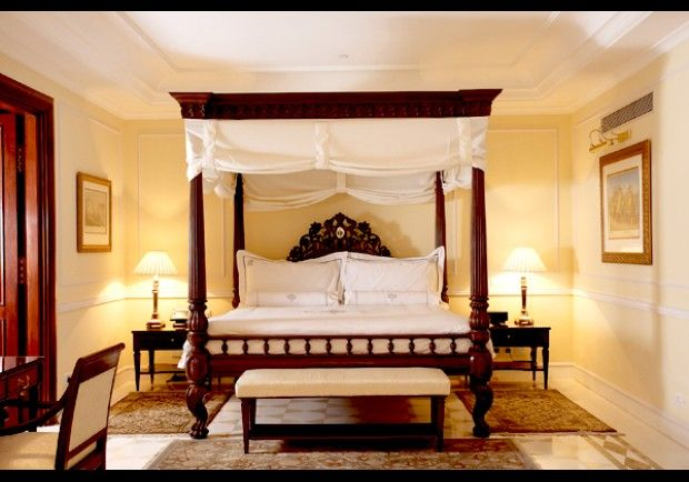 Guest room at The Imperial in Delhi.