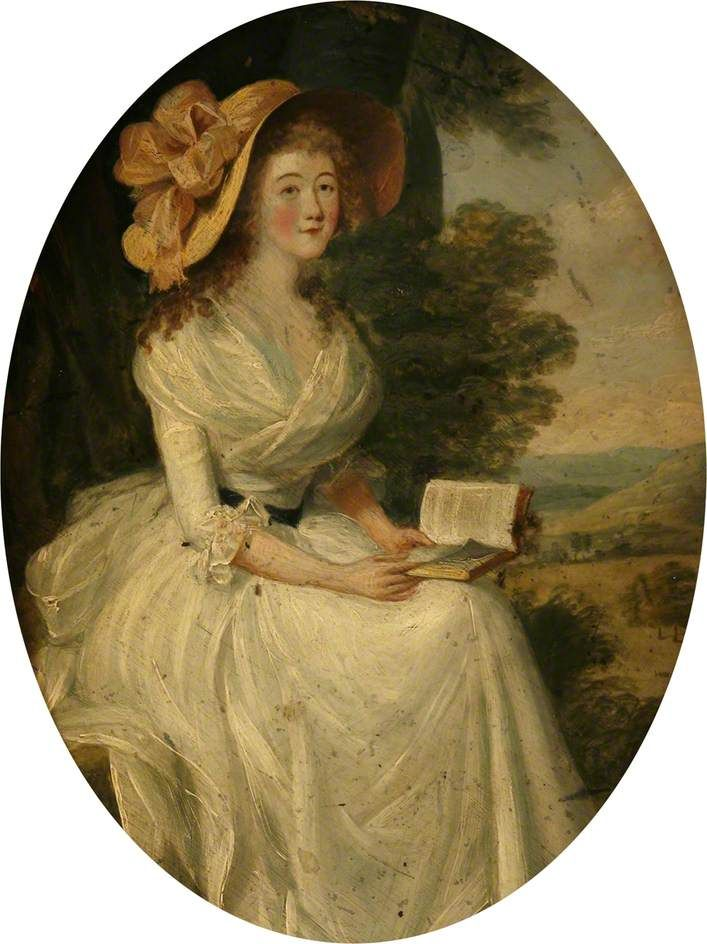 """""""Portrait of a Lady Seated in a Landscape"""", ca. 1787; Mount Edgcumbe House Plymm.053"""