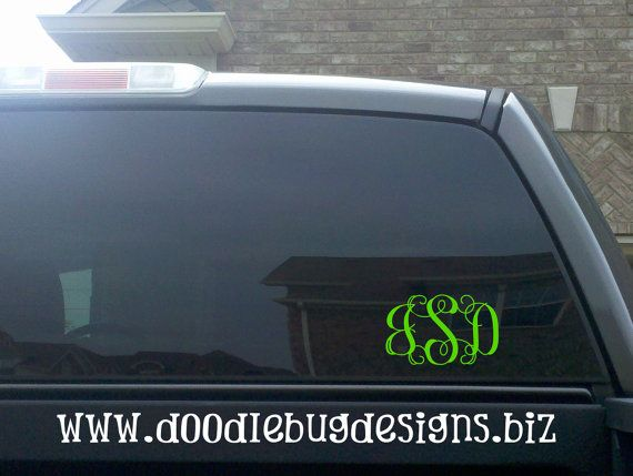 Best Car Decals Images On Pinterest - Letter custom vinyl decals for car