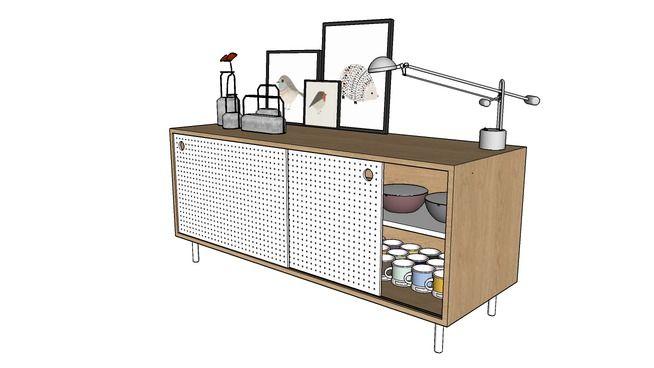 Buffet Pegboard - Vray Ready - 3D Warehouse