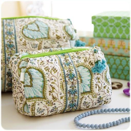 Bungalow - BLOCK-PRINT TEXTILES - toilet bags
