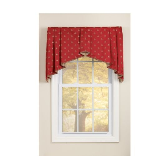 box pleated tapered valances have tailored pleats and tapering sides that soften the window frame