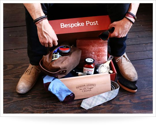 """Does Dad's """"every day basics"""" need a little freshening up? Get him a monthly subscription to Bespoke Post, which will send him a box of new goods—from ties to grilling gadgets—every month."""