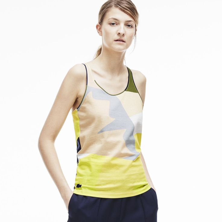 Fashion show color block tank top in jersey