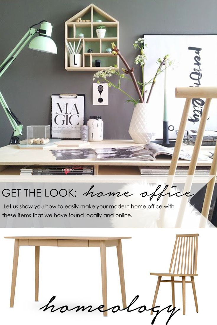 Let us show you how to easily make your modern home office with these items that we have found locally and online.