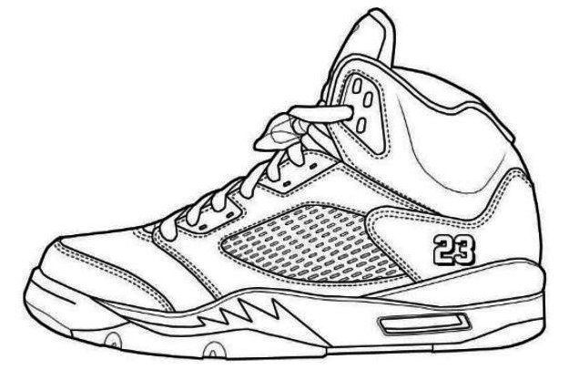 Jordans Shoes Coloring Pages Printable Jordans Sneakers Drawing Jordanssneakersdrawing Jordan Coloring Book Sneakers Illustration Sneakers Drawing
