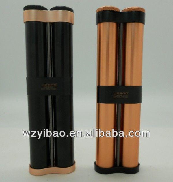 double cigar tubes with lid by JIFENG brand ,JF-029, cigar holder, cigar humidor, alumiium $5~$10