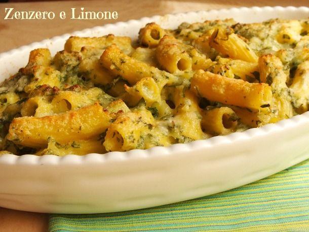 Zenzero e Limone: gratin di pasta crescenza, patate e rucola