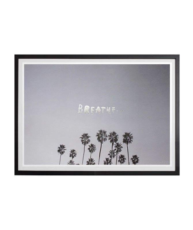 Take a breath and relax. This print is great for homes or perfect as a friendly reminder in the office! | .huntingforgeorge.com