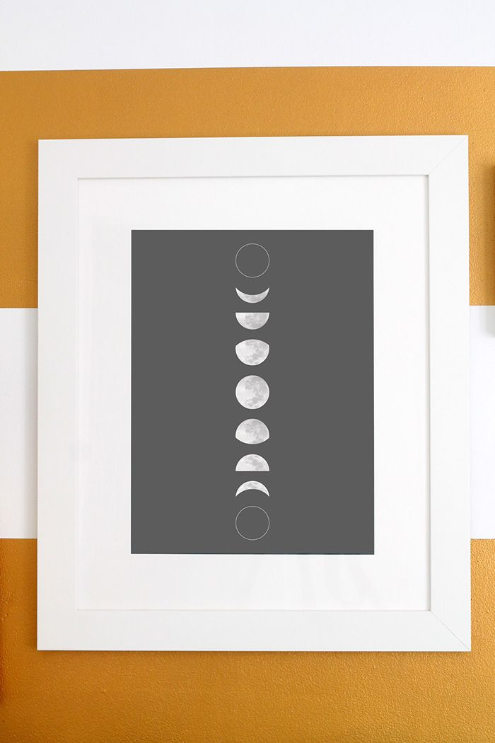 Free Moon Phase Print Download and Pattern tutorial with Snapbox | Squirrelly Minds