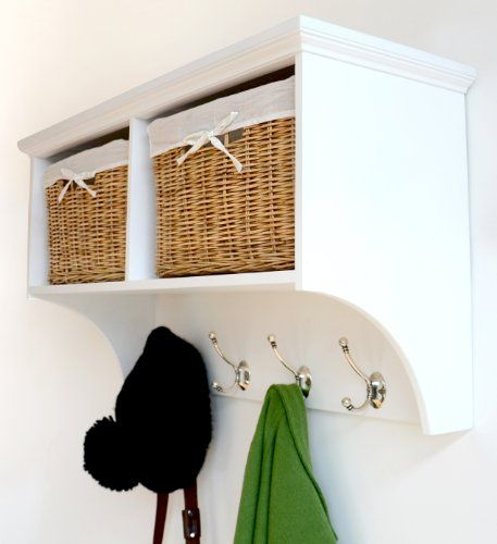 Tetbury White Coat Rack with 2 Natural Wicker Baskets, Quality FULLY ASSEMBLED hallway furniture Tetbury http://www.amazon.co.uk/dp/B00IE7T0J8/ref=cm_sw_r_pi_dp_N5C6wb030MRW4