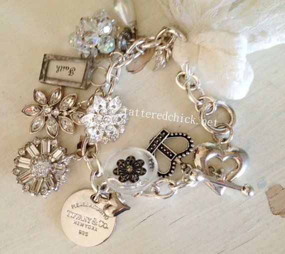 Tiffany Charm Bracelet by TatteredChick on Etsy, $30.00