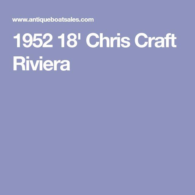 1952 18' Chris Craft Riviera