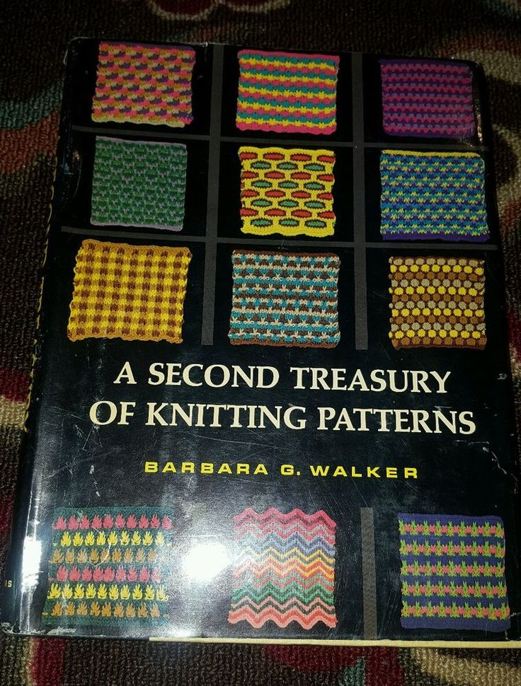 A Second Treasury Of Knitting Patterns : Details about A Second Treasury of Knitting Patterns by Barbara G. Walker Har...